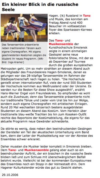 2006.10.Tanzensemble in Hagen