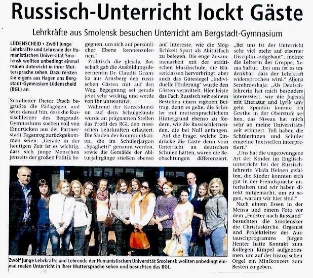 2015.04.29 Lüdenscheider Nachrichten