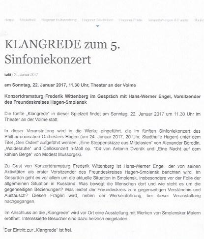 Presse 22.01.17 Klngrede